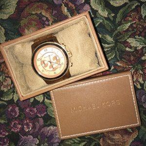 Michael Kors Large Bronze/Rose Gold Watch